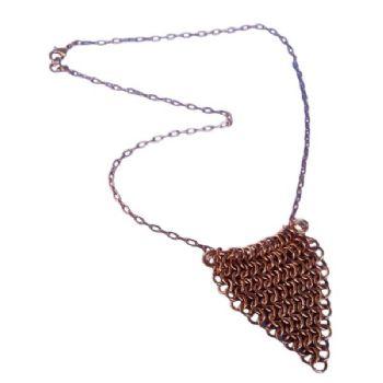 Copper Shield Necklace